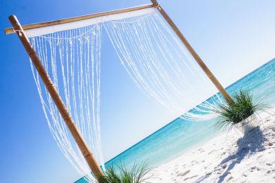 All inclusive crystal wedding arbor in Pensacola