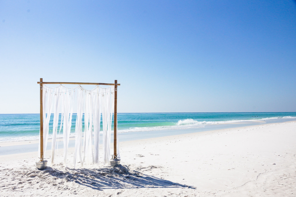 Simple Pensacola Beach Wedding