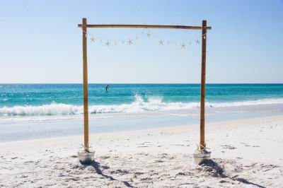 Beach Wedding Starfish Arbor Pensacola