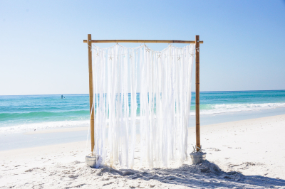 White Beach Wedding Arbor Pensacola | Orange Beach | Gulf Shores