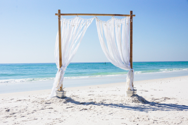Coastal Wedding Arbor