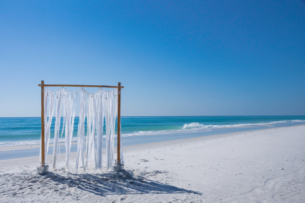 Coastal Wedding Arbor
