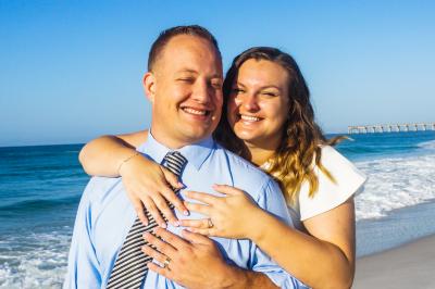 Beach wedding in Navarre