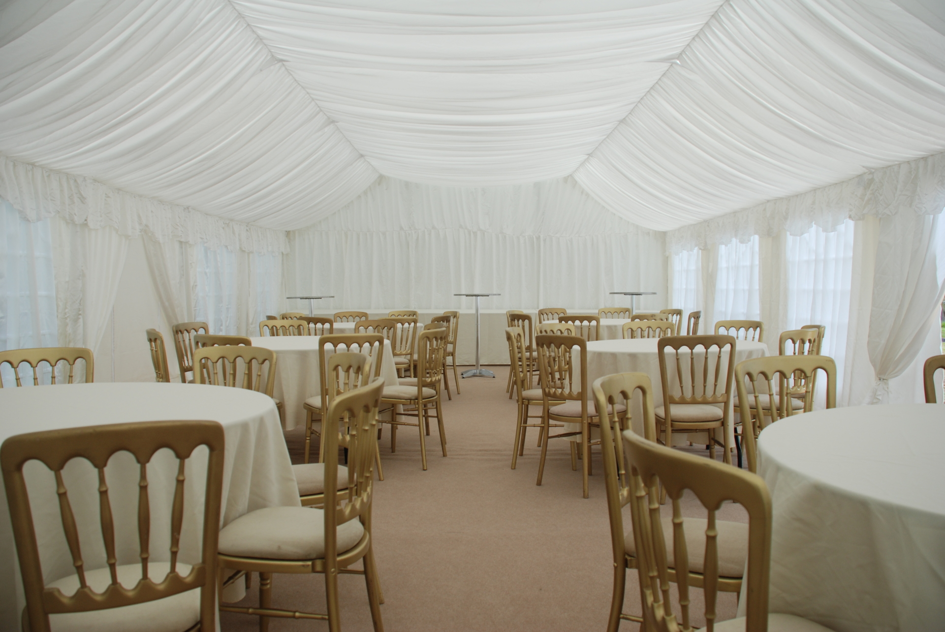 6m x 12m marquee with interior lining