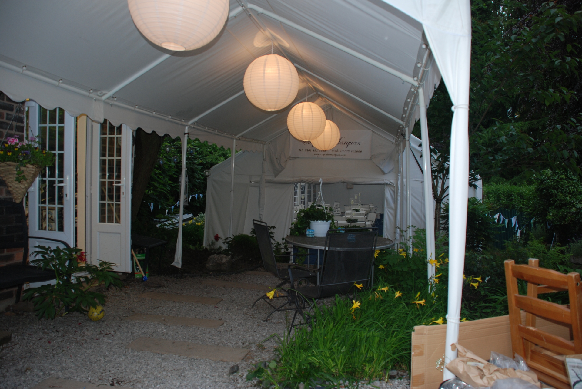 3m x 6m marquee walkway