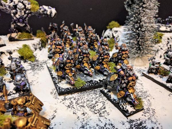 Mounted Berserker Lord with Berserker Brock Riders
