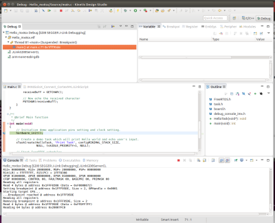 How to build and debug FreeRTOS applications for CortexM4 on MX6SX