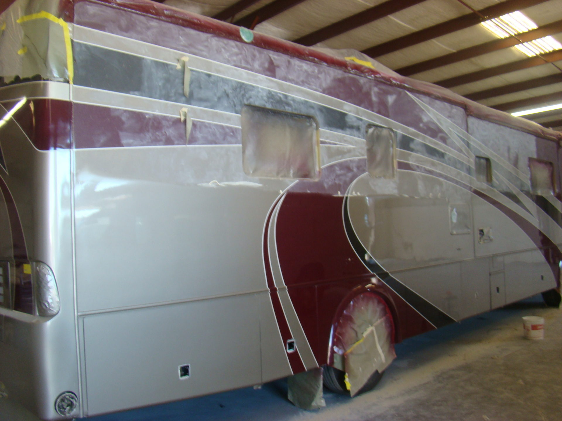 Jim Anderson Country Coach Repaired and in buffing stage
