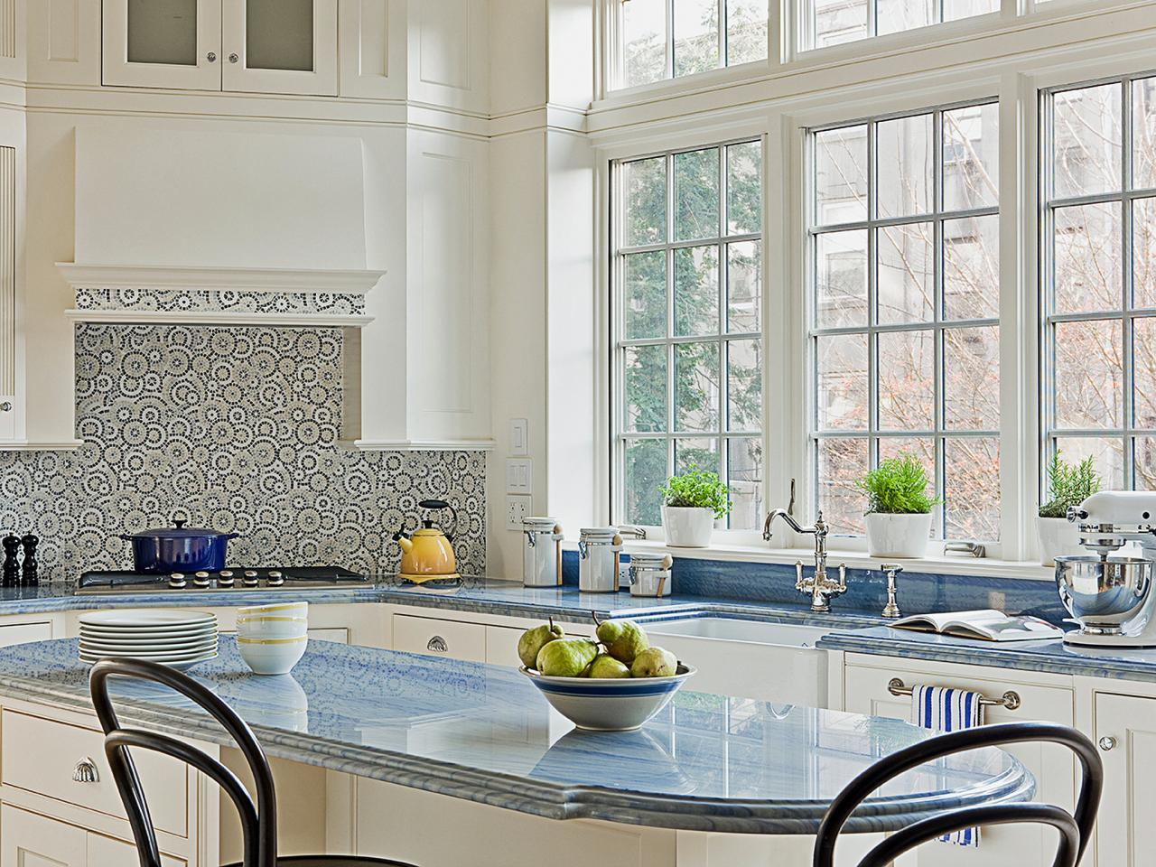 White Cabinets_Blue Tile Backsplash