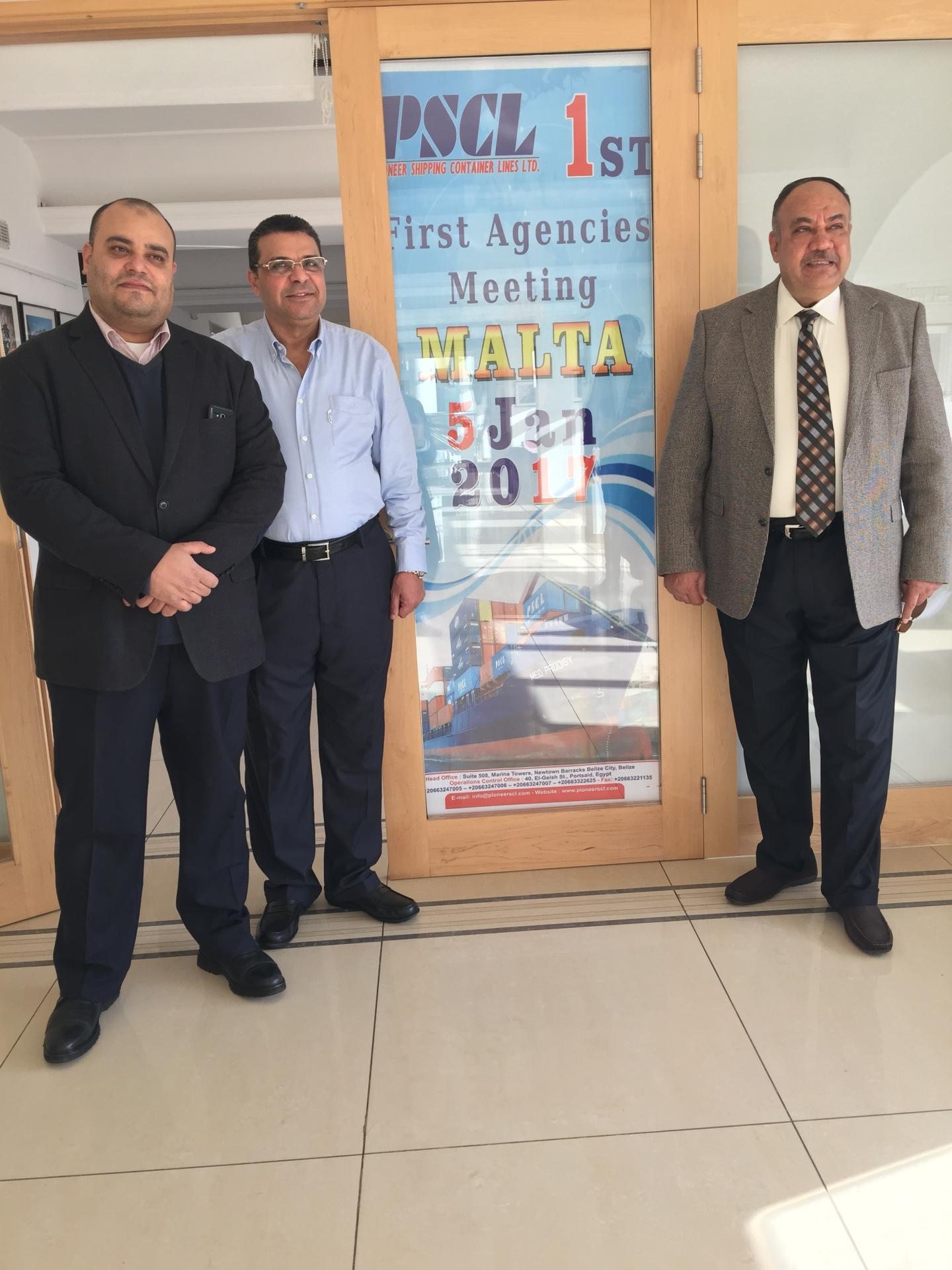 Pioneer first Agency Meeting in Malta