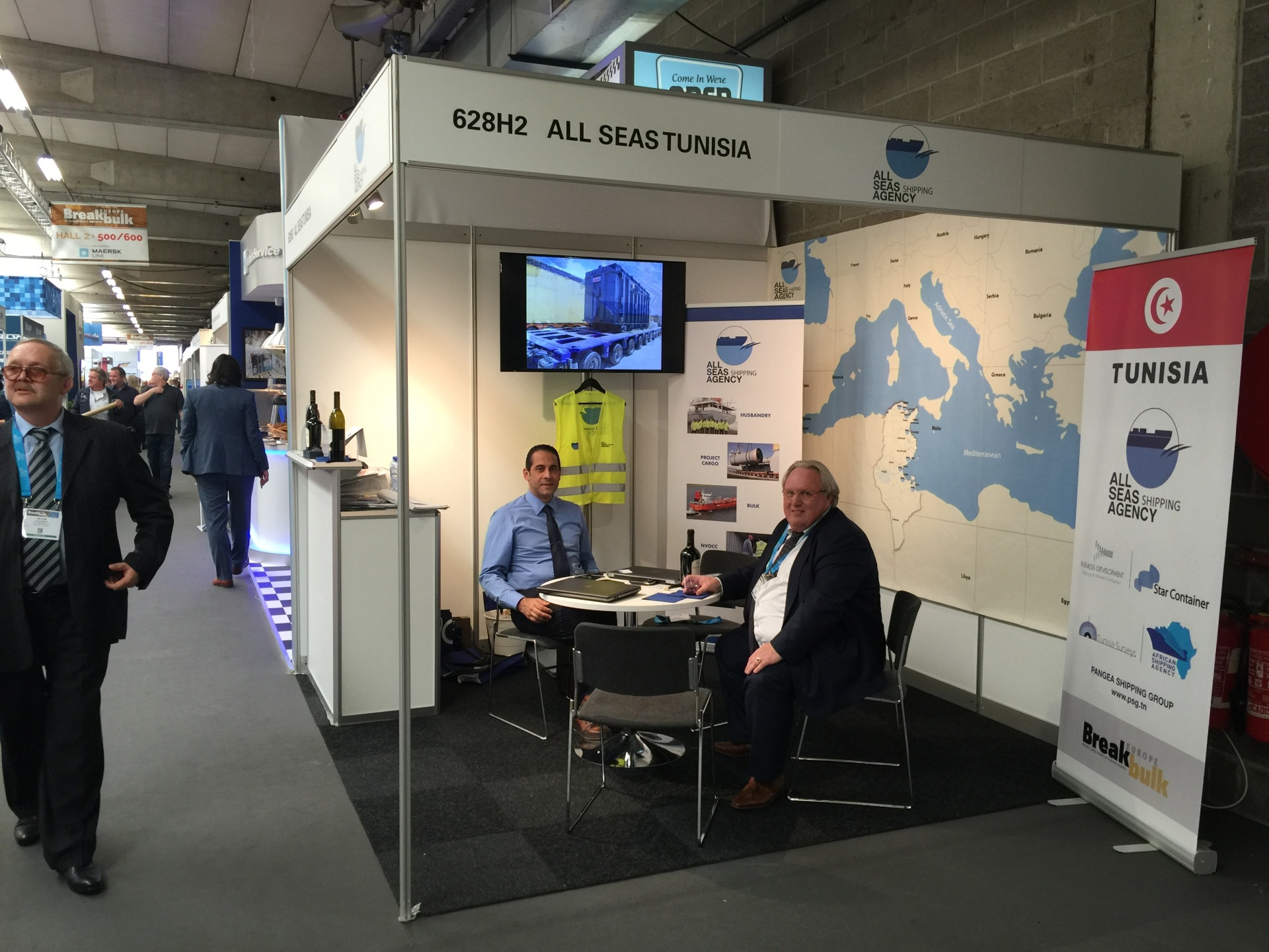 With Guests in Breakbulk Europe 2017