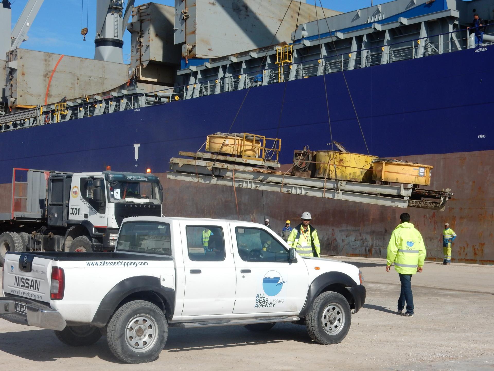 Heavy Cargo ops in Zarzis Port