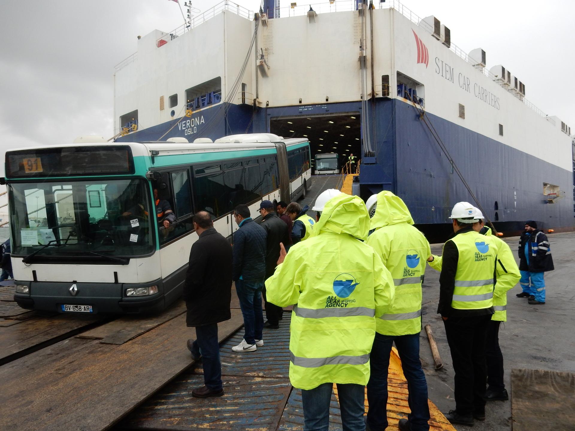 RATP bus discharged at La Goulette Terminal