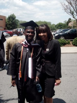 College Graduation with Miss Maroon & White
