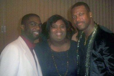 My mom & her favorite comedian, Chris Tucker