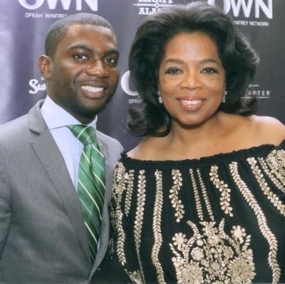 My first time meeting Ms. Oprah Winfrey