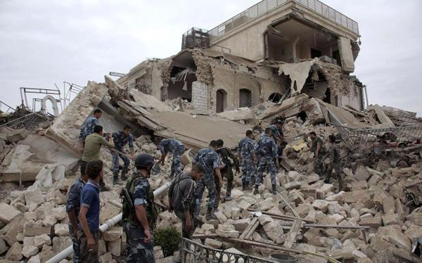 Οι αντίπαλες δυνάμεις στην περιοχή του Χαλεπιου - Al Bab, Χάρτης