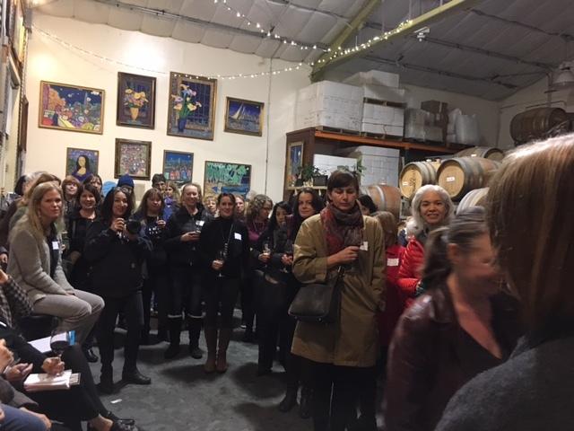 The event was held at Sones Winery, Santa Cruz.