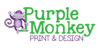 Purple Monkey Print & Design