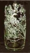 decorative etched vase, etched vase