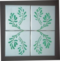 etched ceramic tile, etched painted tile,decorative ceramic tile