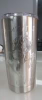 custom engraved metal Yeti tumbler, engraved metal tumbler