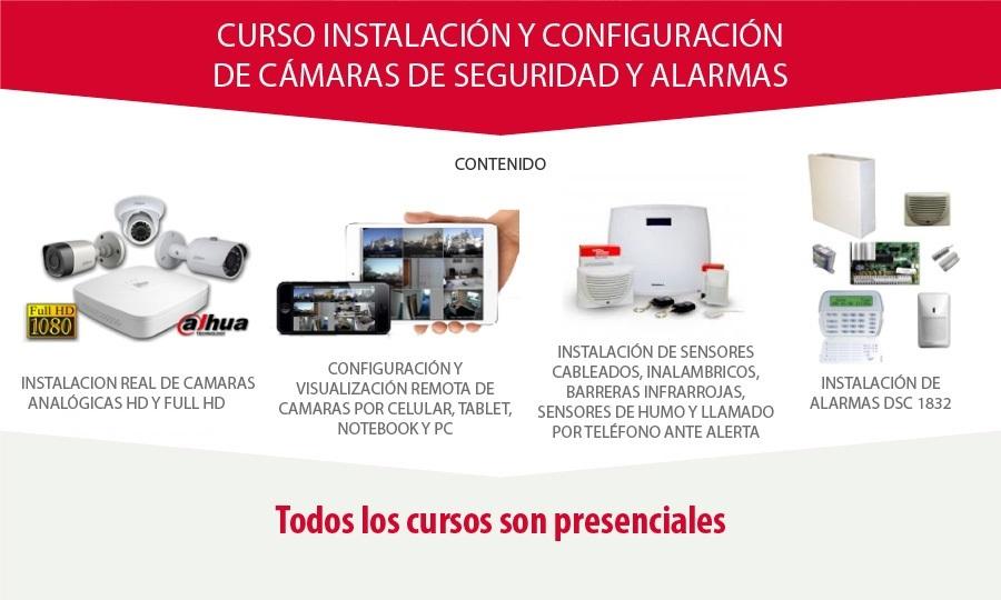Curso de Instalación de Alarmas, Camaras y Circuito Cerrado CCTV
