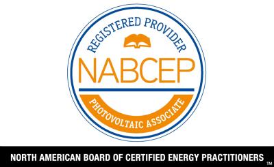 NABCEP Registered Training Provider for the Photovoltaic Associate Program