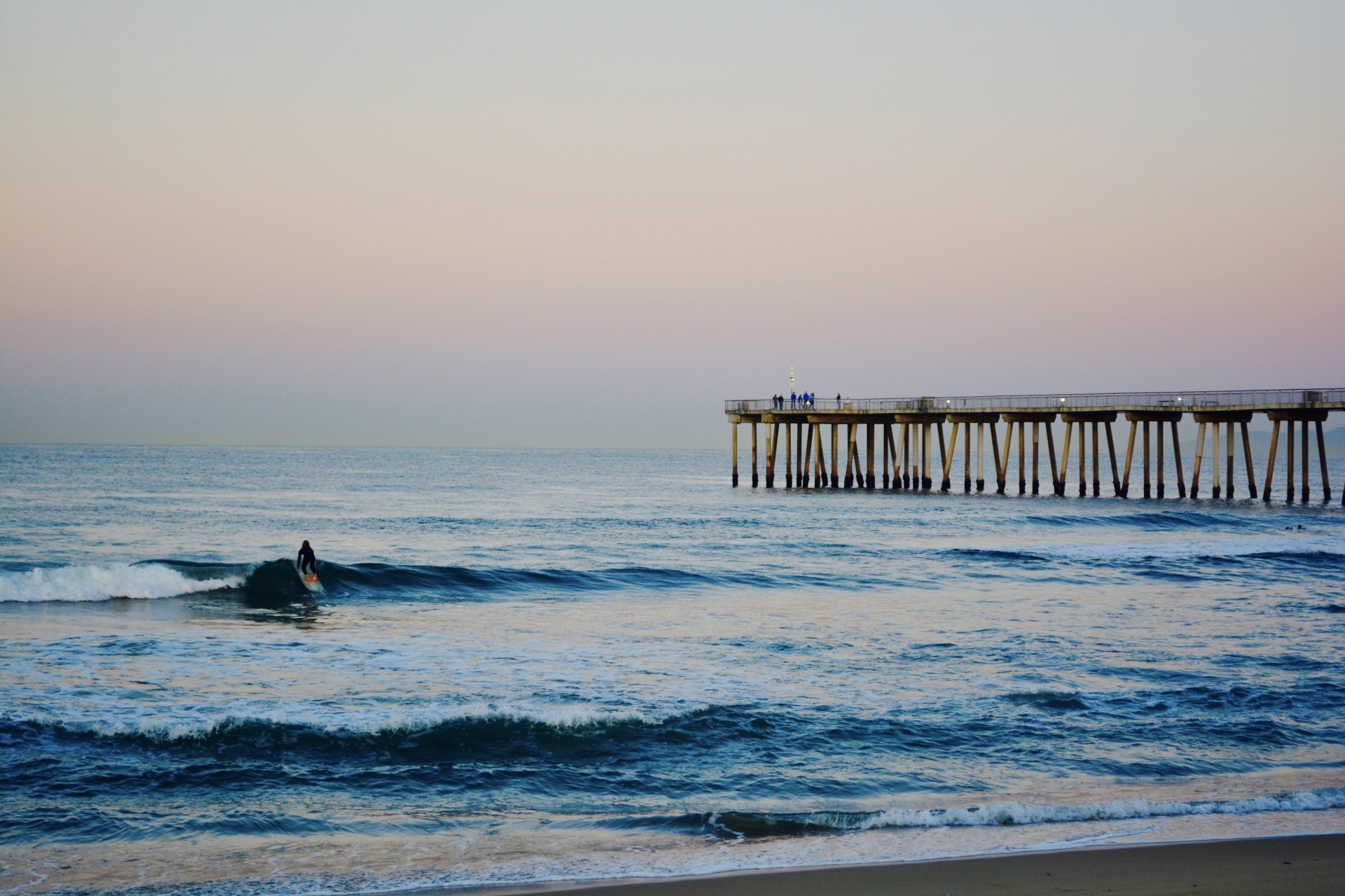 Hermosa Surfer Girl before Sunrise