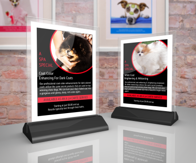 Pet grooming services profit program printables