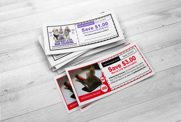 Printable pet grooming services coupons