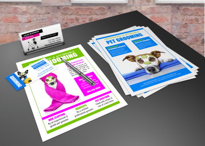 Dog grooming business flyers