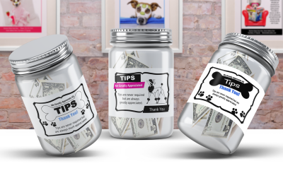 Grooming business tip jar signage printables