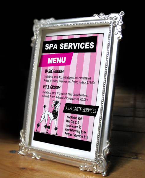 Grooming services price list 2