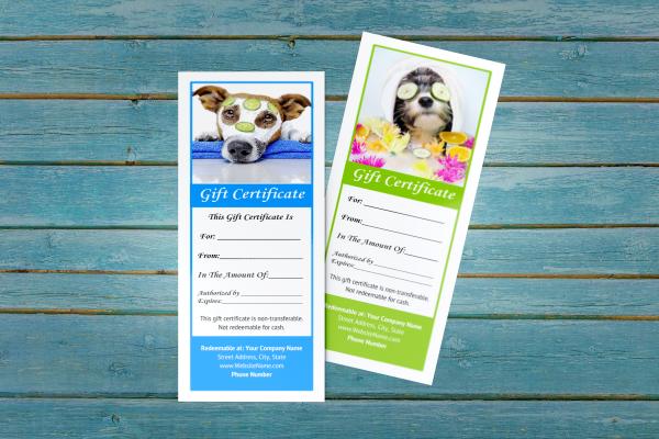 pet groomer gift certificate templates 4