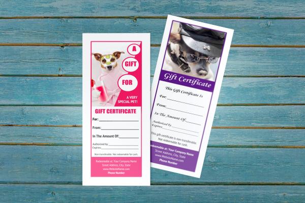 pet groomer gift certificate templates 6