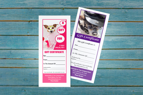 pet groomer gift certificate templates 6