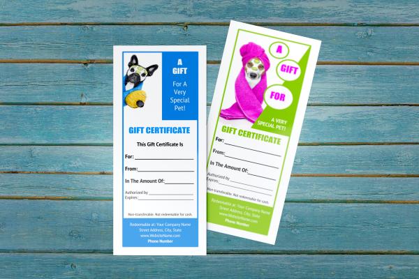 pet groomer gift certificate templates 7