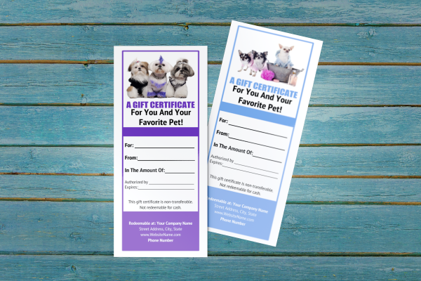 pet groomer gift certificate templates 8