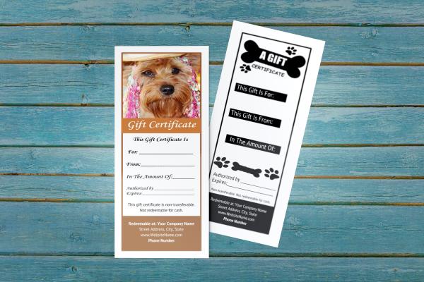 pet groomer gift certificate templates 9