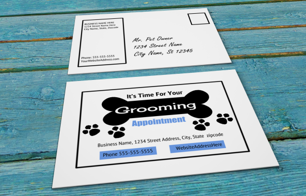 grooming business appointment reminder postcards 8