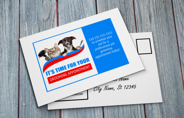 grooming business appointment reminder postcards 10