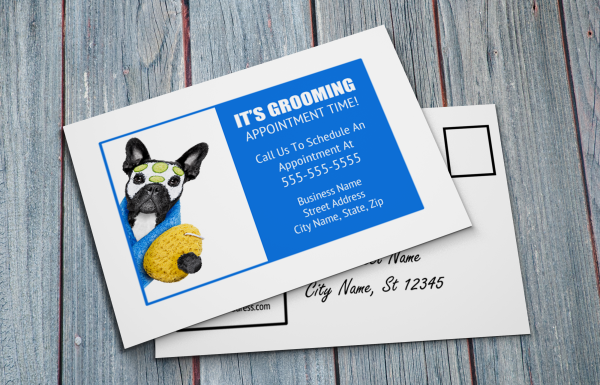 grooming business appointment reminder postcards 15