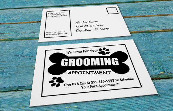 grooming business appointment reminder postcards 18