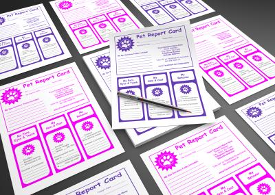 Pet report cards template