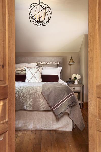 interior design of a master bedroom in Toronto