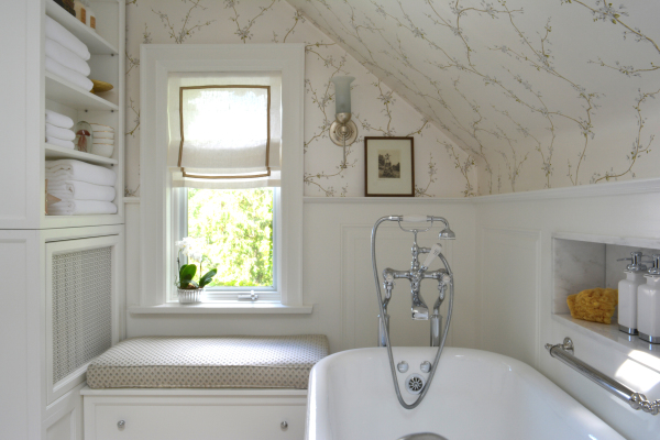 Toronto Swansea traditional master bathroom by mimi pineau design