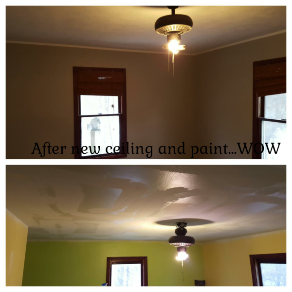 New ceiling, texture and paint