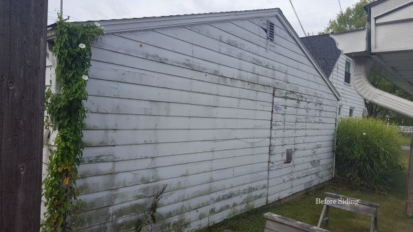 Garage before siding