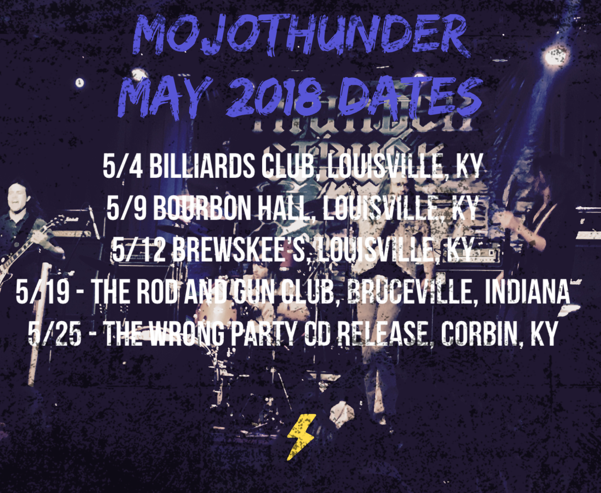 New Dates for May and some other big news coming soon....